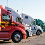 truck, semi, transportation